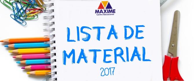 LISTA DE MATERIAL MAXIME 2017